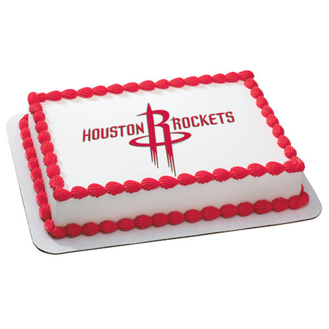 NBA Houston Rockets Edible Cake Topper Image
