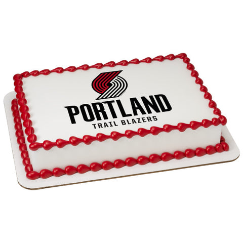 NBA Portland Trail Blazers Edible Cake Topper Image
