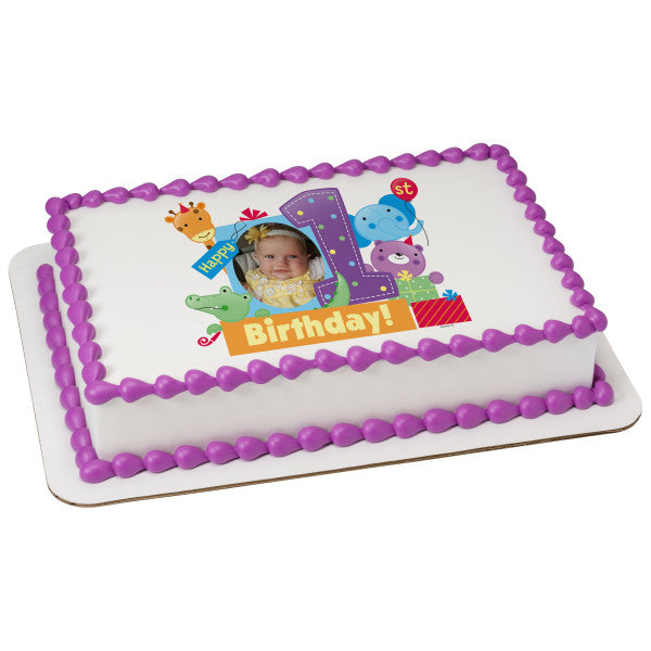 A Birthday Place - Cake Toppers - First Birthday Edible Cake Topper Frame