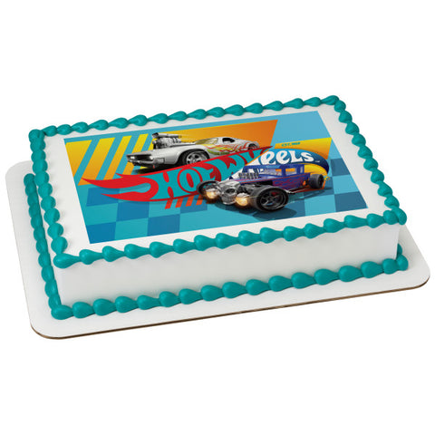 Hot Wheels™ Stunt Zone Edible Cake Topper Image