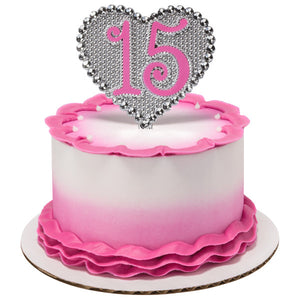 A Birthday Place - Cake Toppers - La Quinceañera Pink and Purple 15 DecoPics®