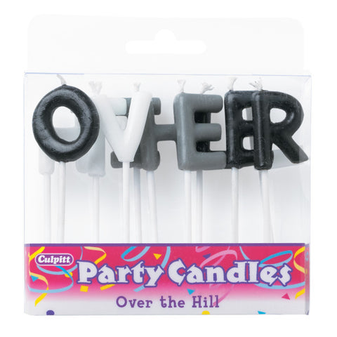 A Birthday Place - Cake Toppers - Over the Hill Letter Candles