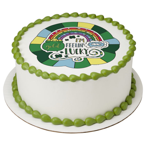I'm Feeling Lucky Edible Cake Topper Image