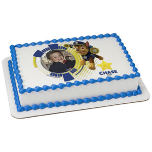 PAW Patrol Chase Edible Cake Topper Frame A Birthday Place