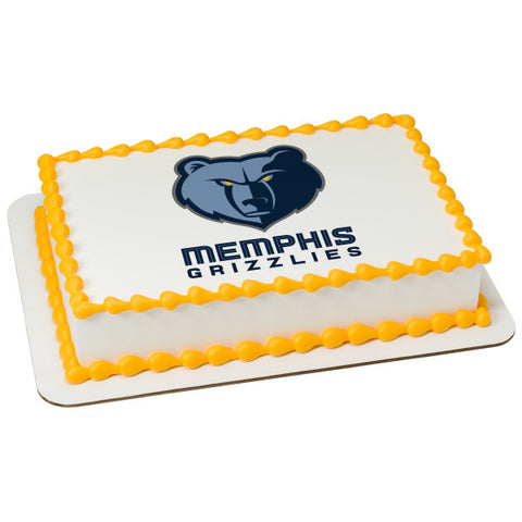 NBA-Memphis Grizzlies Edible Cake Topper Image