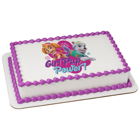 A Birthday Place - Cake Toppers - Paw Patrol Girl Pup Power Edible Cake Topper Image