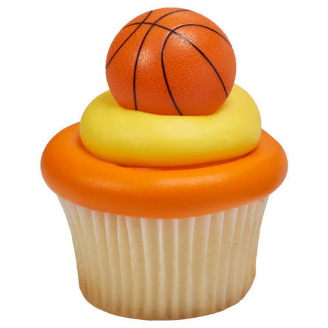 3D Basketball Cupcake Rings