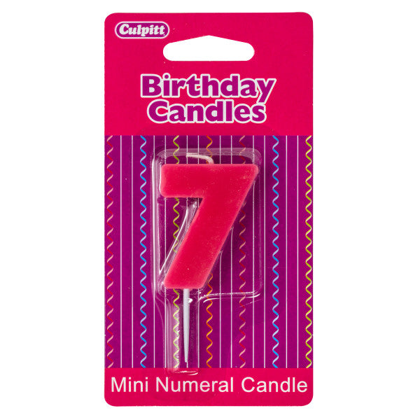 7 Mini Block Numeral Candles