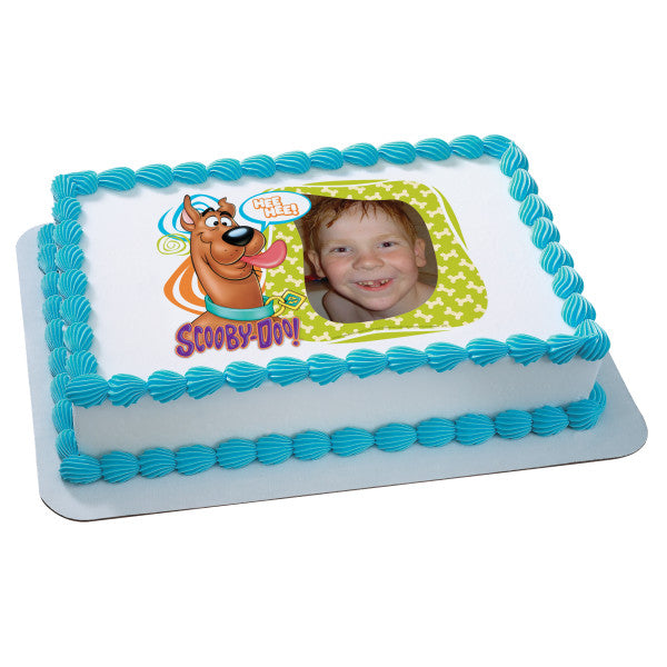 Groovy Scooby Doo Photobomb Edible Cake Topper Image Frame A Funny Birthday Cards Online Alyptdamsfinfo