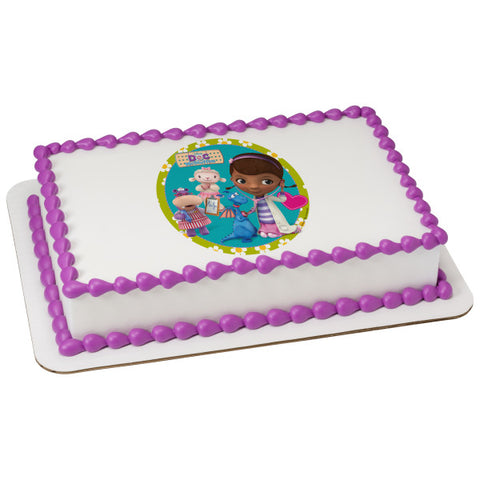 A Birthday Place - Cake Toppers - Doc McStuffins Doc and Friends Edible Cake Topper Image