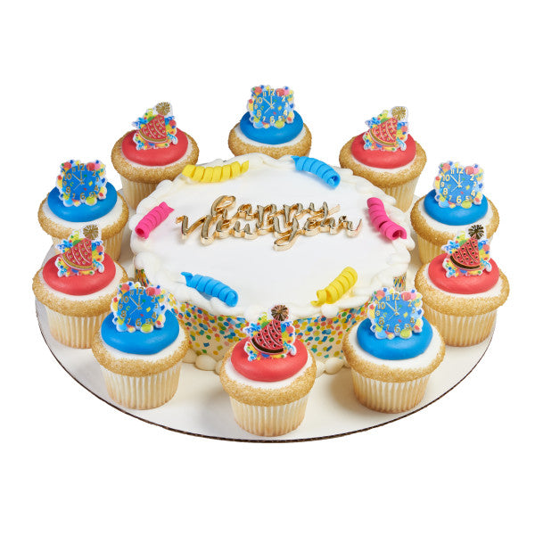 New Years Celebration Cupcake Rings