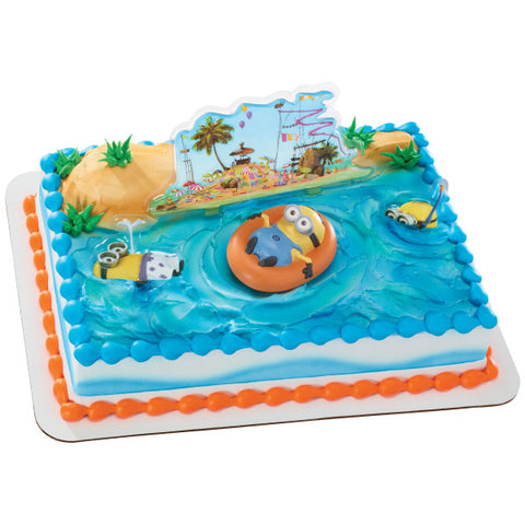 A Birthday Place - Cake Toppers - Minions Beach Party DecoSet®