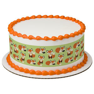 A Birthday Place - Cake Toppers - Fox Edible Cake Topper Image Strips