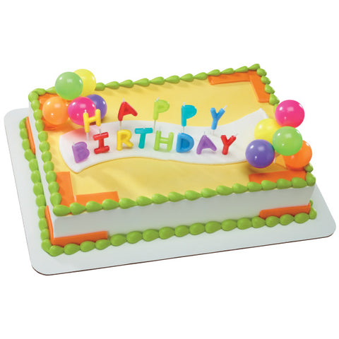 Happy Birthday Neon Candles DecoSet®