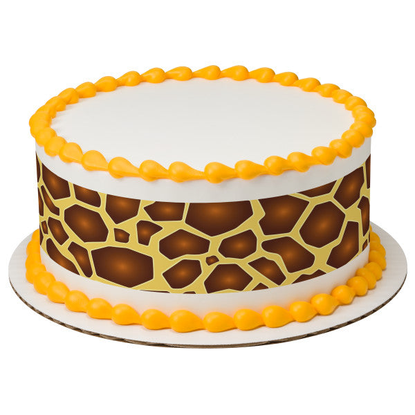 A Birthday Place - Cake Toppers - Safari Print Giraffe Edible Cake Topper Image Strips