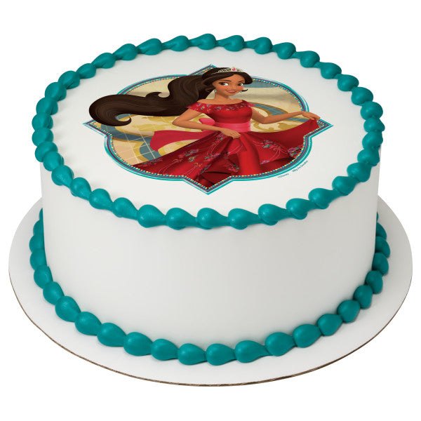 Elena of Avalor Ready to Rule Edible Cake Topper Image