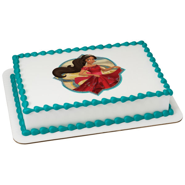 A Birthday Place - Cake Toppers - Elena of Avalor Ready to Rule Edible Cake Topper Image