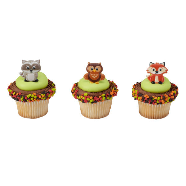 Woodland Animals Cupcake Rings