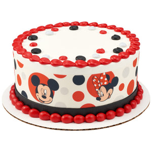 Marvelous Mickey Mouse And Minnie Mouse Edible Cake Topper Image Strips A Birthday Cards Printable Trancafe Filternl