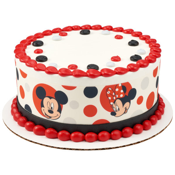 Admirable Mickey Mouse And Minnie Mouse Edible Cake Topper Image Strips A Funny Birthday Cards Online Elaedamsfinfo