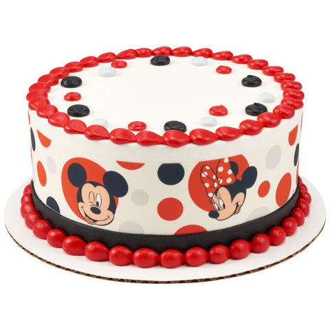Mickey Mouse and Minnie Mouse Edible Cake Topper Image Strips