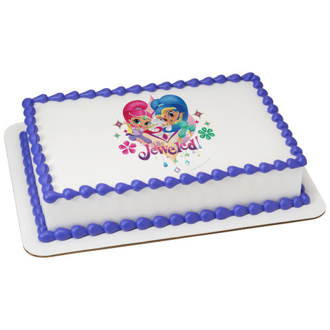 A Birthday Place - Cake Toppers - Shimmer and Shine Be Jeweled Edible Cake Topper Image