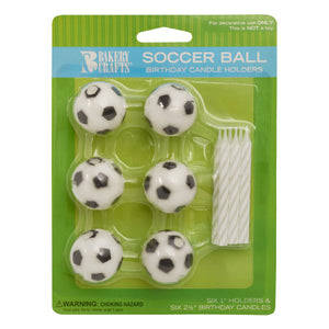 A Birthday Place - Cake Toppers - Soccer Candles