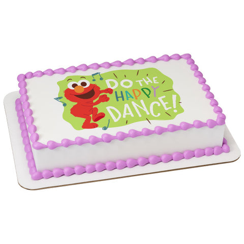 Sesame Street Elmo Happy Dance Edible Cake Topper Image