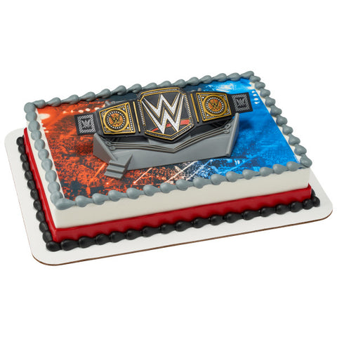 WWE Championship Ring Edible Cake Topper DecoSet® Background