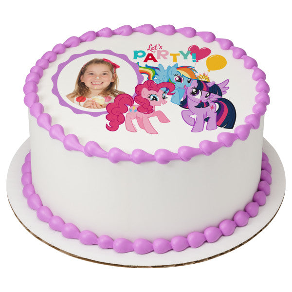 My Little Pony Lets Party Edible Cake Topper Frame A Birthday Place