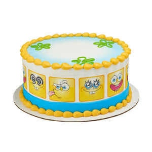 "A Birthday Place - Cake Toppers - SpongeBob SquarePants""¢ Many Faces Edible Cake Topper Image Strips"