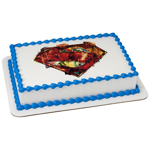 A Birthday Place - Cake Toppers - Superman Hope Edible Cake Topper Image