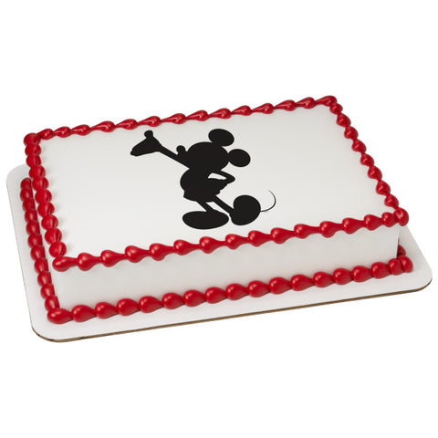 A Birthday Place - Cake Toppers - Mickey Silhouette Edible Cake Topper Image