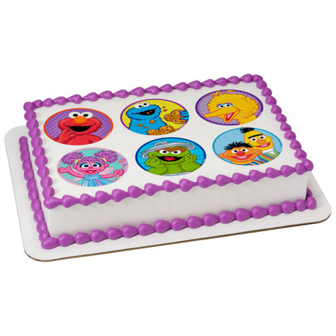 Sesame Street® Celebration Edible Cake Topper Image