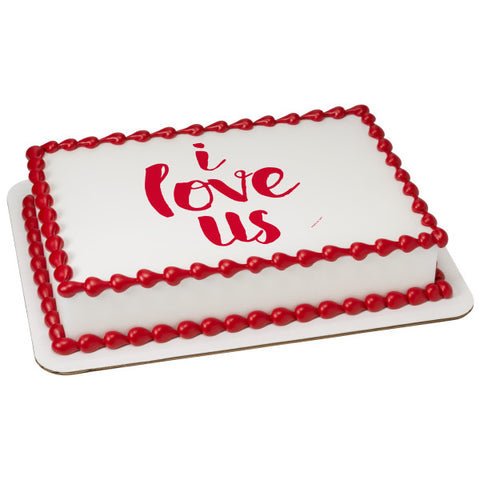 A Birthday Place - Cake Toppers - I Love Us Edible Cake Topper Image