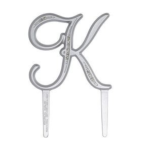 "A Birthday Place - Cake Toppers - 2.5"" K Diamond Letter Monogram"