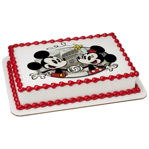A Birthday Place - Cake Toppers - Mickey & Friends Cafe Minnie Edible Cake Topper Image