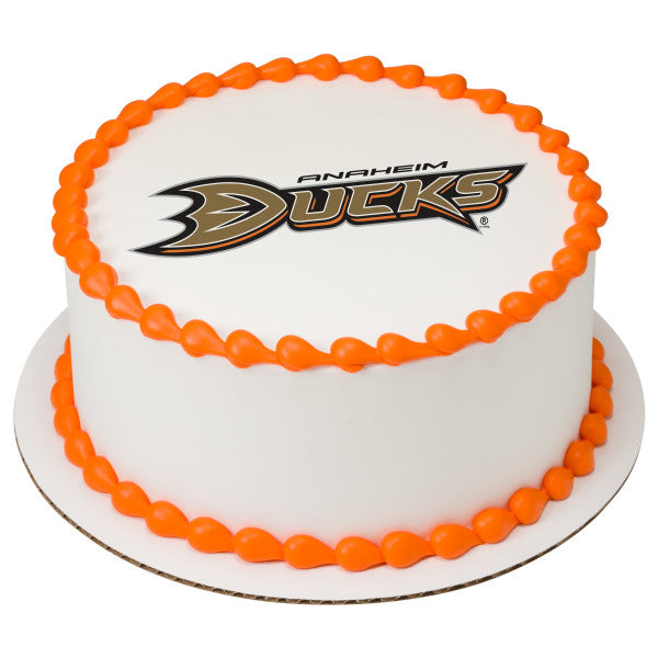 NHL® Anaheim Ducks Team Edible Cake Topper Image
