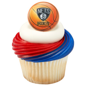 NBA Brooklyn Nets Cupcake Rings