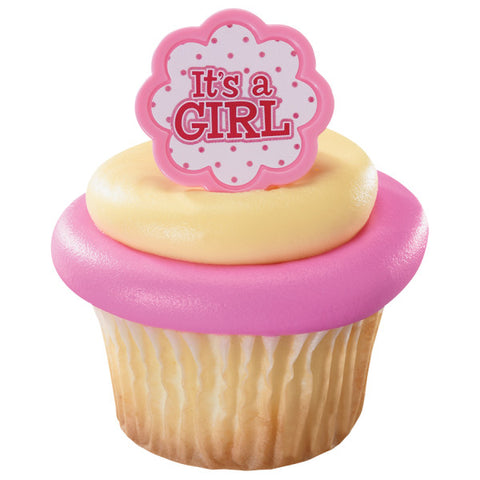 A Birthday Place - Cake Toppers - It's a Girl Cupcake Rings