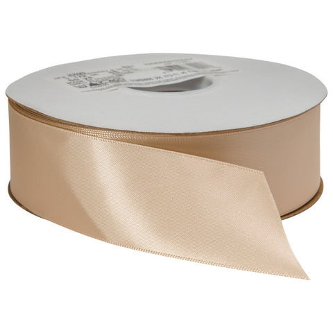 "Chardonnay Double Faced Satin 1.5"" x 50 yards Ribbon"