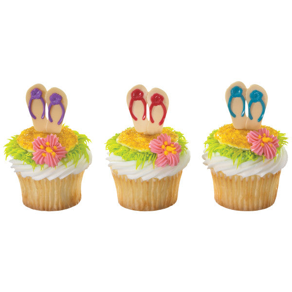 A Birthday Place - Cake Toppers - Summer Flip Flops DecoPics®