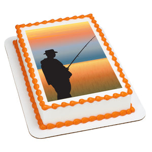 A Birthday Place - Cake Toppers - Fishing Edible Cake Topper Image