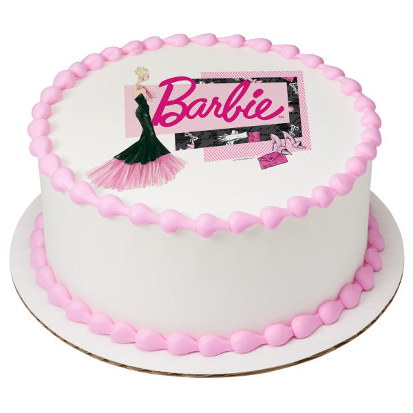 Super Barbie Forever Glam Edible Cake Topper Image A Birthday Place Personalised Birthday Cards Beptaeletsinfo