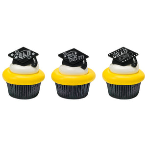 You Did it Grad Cupcake Rings