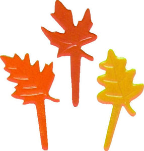 12ct. Harvest Leaves Cupcake Picks