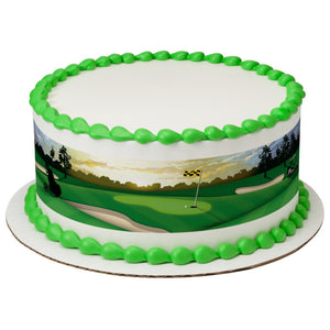 A Birthday Place - Cake Toppers - Golf Edible Cake Topper Image Strips