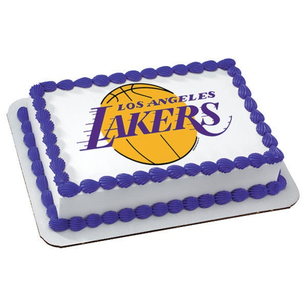 NBA Los Angeles Lakers Edible Cake Topper Image