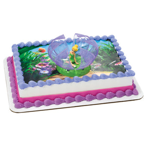 Tinker Bell in Flower Edible Cake Topper Image DecoSet® Background