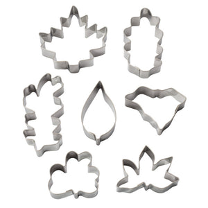 Leaf Cutters Assorted Shapes & Sizes, 7 Piece Set Cutters/Molds